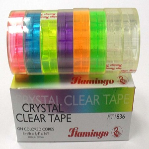 Flamingo Crystal Clear Tape – 8 Rolls X 3 / 4 X 36 Yards