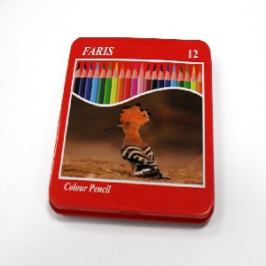 Faris 12 Color Pencils Metal Box – Small