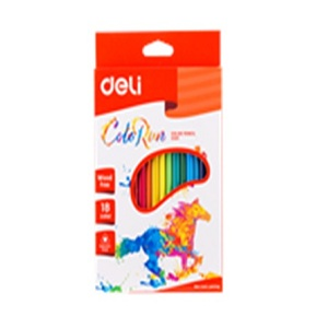 DELI Color Pencil in 18 Colors Test